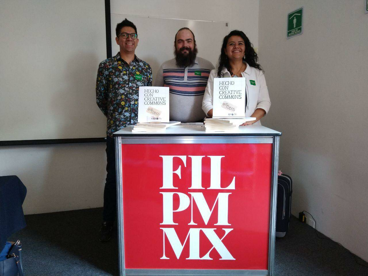 Iván Martínez, Gunnar Wolf and Irene Soria, Creative Commons Mexico chapter