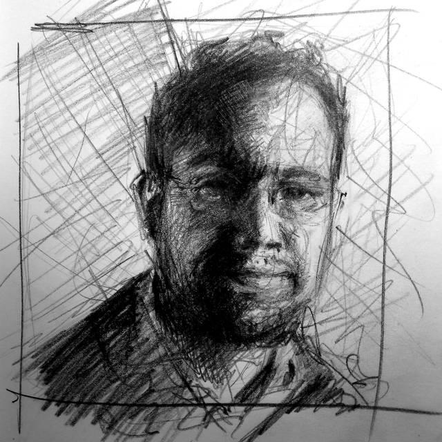 José María Serralde, drawing by Isabel Krek