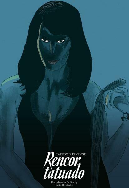 El fabuloso cartel de Alejandro Magallanes para _Rencor tatuado_ (2019) de Julián Hernández